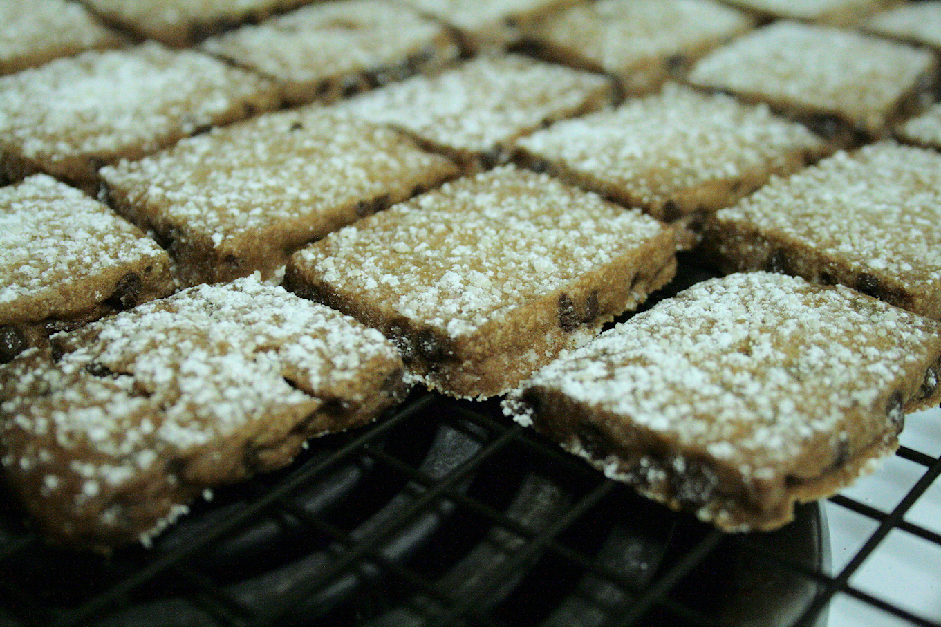 g33kg0dd3ss » Posts » Espresso Chocolate Chip Shortbread Cookies