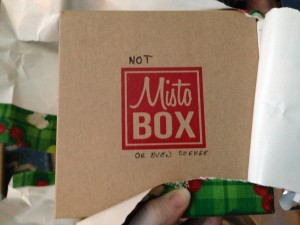 NOT Misto Box, or even coffee.